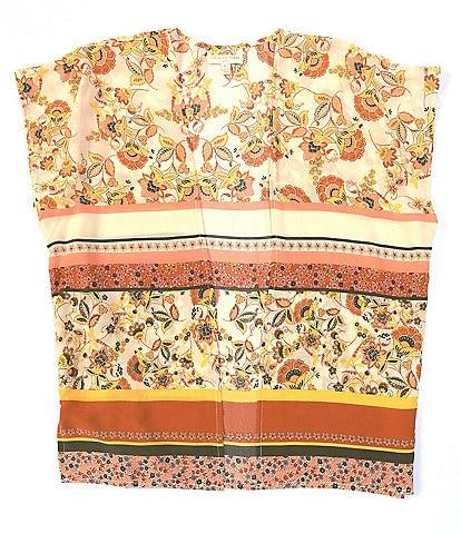Chelsea & Violet Girls Big Girls 7-16 Printed Kimono