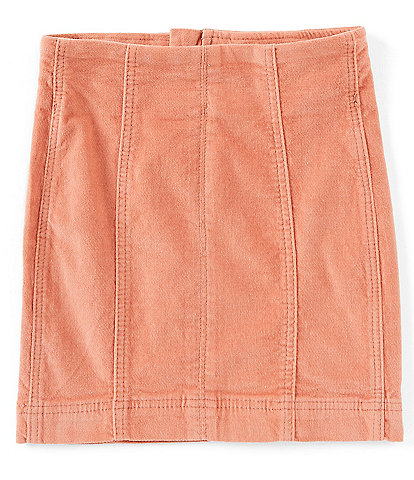 Chelsea & Violet Girls Big Girls 7-16 Solid Velveteen Corduroy Mini Skirt