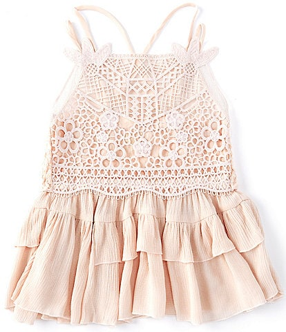 Chelsea & Violet Girls Big Girls 7-16 Woven Lace Tank