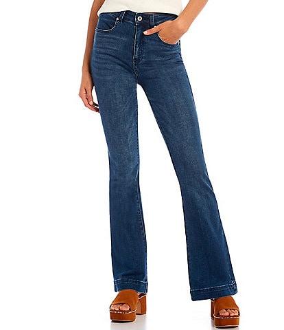 Chelsea & Violet High Rise Stretch Indigo Denim Flare Jeans