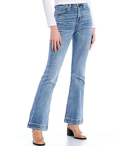 Chelsea & Violet High Rise Stretch Indigo Denim Flare Jeans
