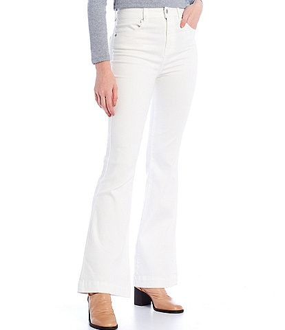 Chelsea & Violet High Rise Ultra White Flare Jeans