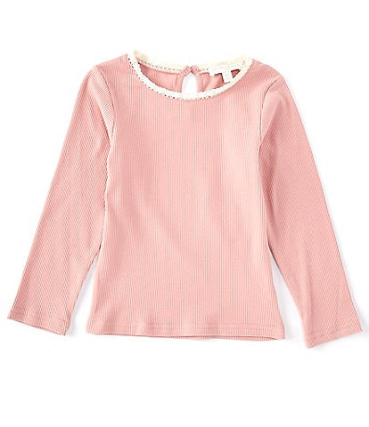 Chelsea & Violet Little Girls 2T-6X Rib Knit Lace Tee