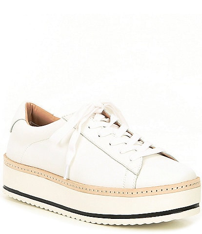 Chelsea & Violet Minie Leather Platform Lace-Up Sneakers