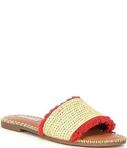 Chelsea & Violet Rafa Fringe Flat Sandals