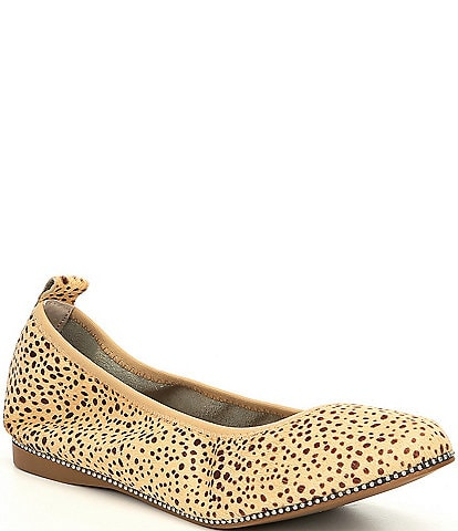 Chelsea & Violet Ruby Leopard Print Haircalf Ballet Flats