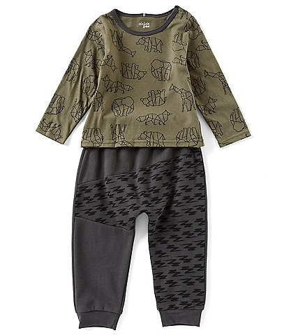 Chick Pea Baby Boys 12-24 Months Constellation Safari Top & Jogger Set