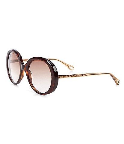 Chloe Women's Ch0007s Oval 54mm Sunglasses