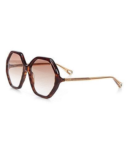 Chloe Women's Ch0008s Oval 58mm Sunglasses