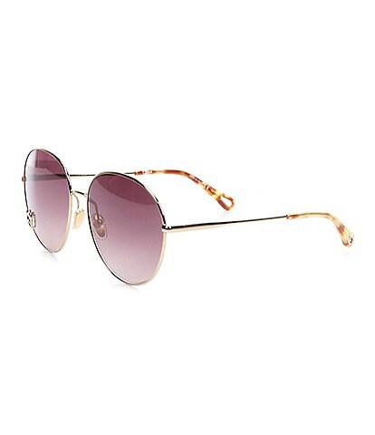 Chloe Women's Ch0027s Round 61mm Sunglasses