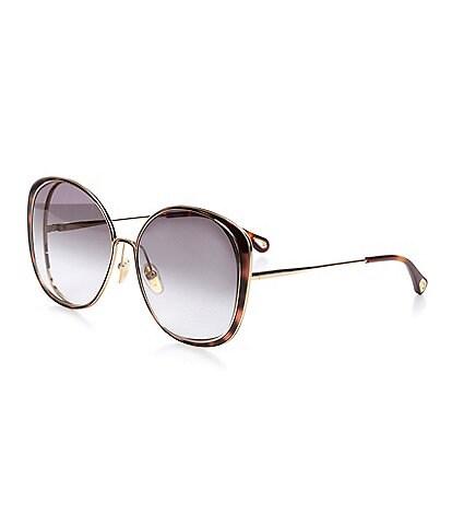 Chloe Women's Ch0036s Round 63mm Sunglasses