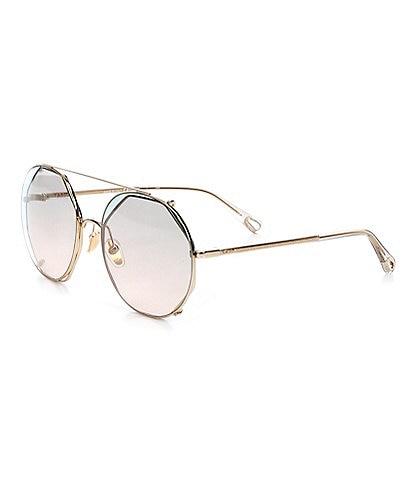 Chloe Women's Ch0041s Round 57mm Sunglasses