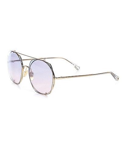 Chloe Women's Ch0042s Rectangular 56mm Sunglasses