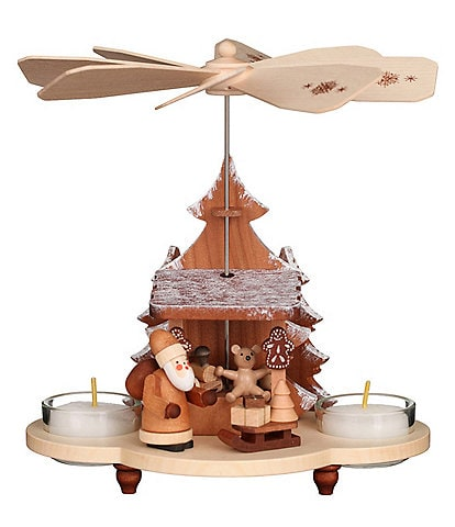 Christian Ulbricht Natural Collection Santa and Toys 7.5#double; Pyramid Candle Holder