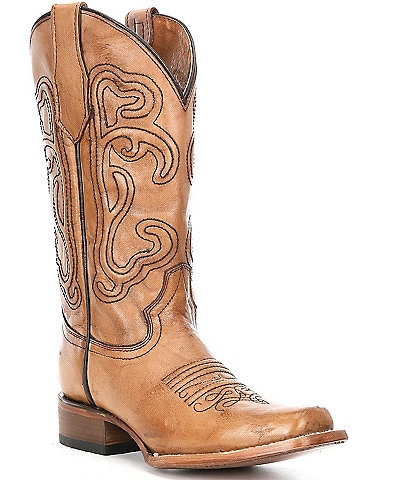 Circle G by Corral Brown Corded Embroidery Western Boots
