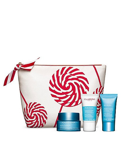 Clarins Hydration Essentials 3-Piece Exfoliate Renew and Hydrate Set