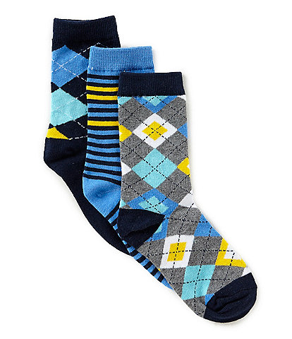 Class Club Boys 3-Pack All Argyle Prep Crew Socks
