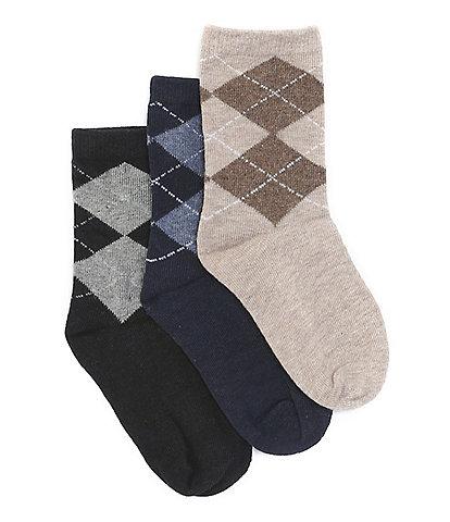 Class Club Boys 3-Pack Mini Argyle Socks