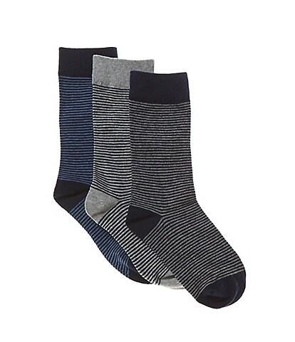 Class Club Boys 3-Pack Mini Stripe Socks