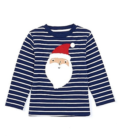 Class Club Adventure Wear Little Boys 2T-7 Santa Stripe Graphic Tee