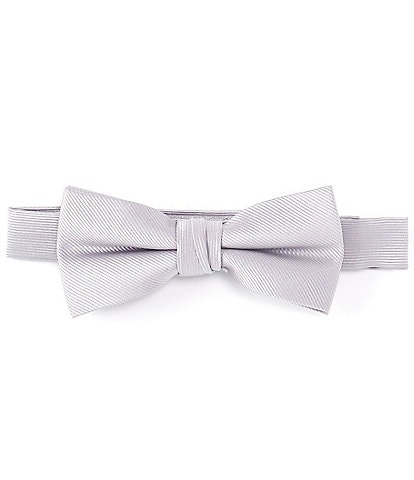 Class Club Boys Basic Solid Silk Bow Tie