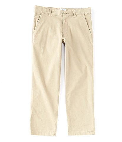 Class Club Big Boys 10-18 Husky Fit Flat-Front Stretch Twill Pants