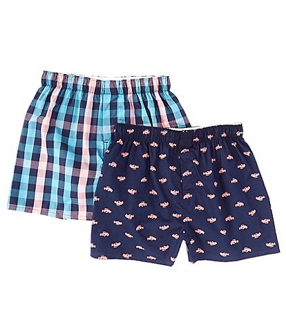 Class Club Big Boys 6-20 2-Pack Woven Boxer Briefs