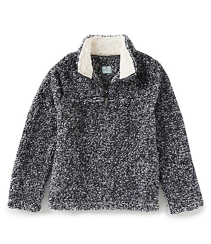 Class Club Big Boys 8-20 1/4 Zip Faux Fur Whubby Frosted Sherpa Pullover