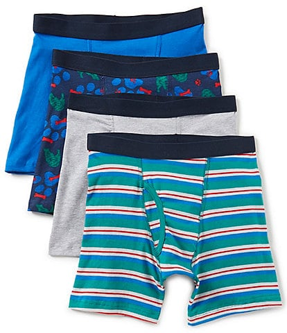 Class Club Big Boys 8-20 4-Pack Dog Print Boxer Briefs