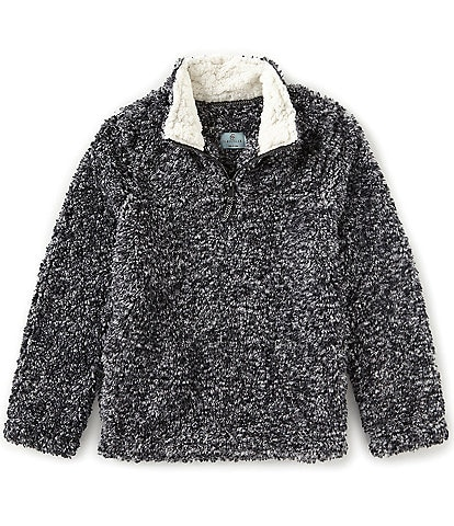 Class Club Big Boys 8-20 Faux Fur 1/4 Zip Frosted Sherpa Pullover