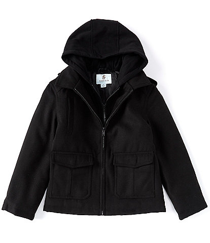Class Club Big Boys 8-20 Hooded Double Zip Front Military Jacket