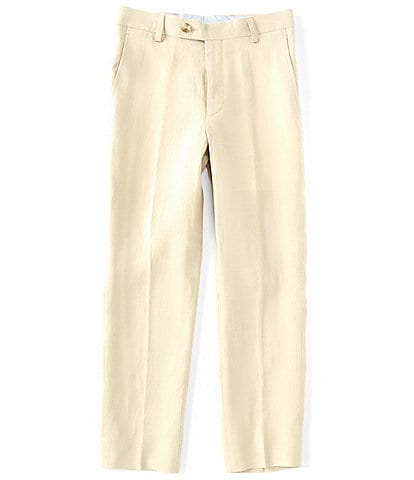 Class Club Big Boys 8-20 Linen Straight-Leg Dress Pants