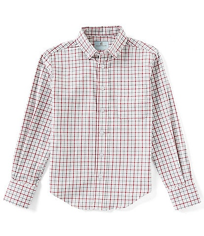 Class Club Big Boys 8-20 Long-Sleeve Checked Flannel Button-Front Woven Shirt