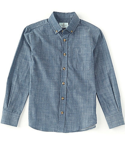 Class Club Big Boys 8-20 Long-Sleeve Denim Shirt