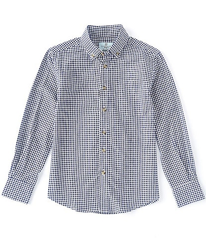 Class Club Big Boys 8-20 Long-Sleeve Gingham Shirt