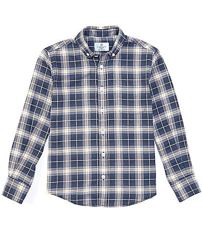 Class Club Big Boys 8-20 Long-Sleeve Oxford Plaid Button-Front Shirt