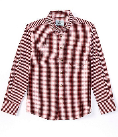 Class Club Big Boys 8-20 Long-Sleeve Plaid Button-Front Shirt