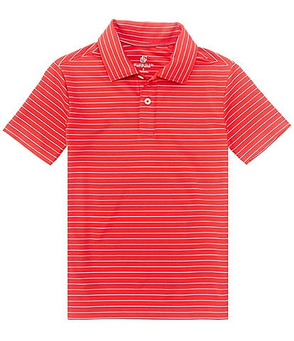 Class Club Big Boys 8-20 Short-Sleeve Synthetic Shadow Stripe Polo Shirt