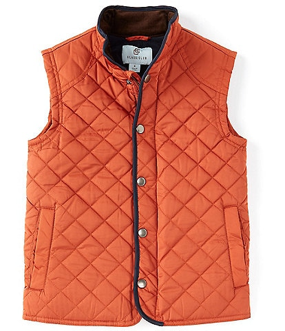 Class Club Big Boys 8-20 Stand-Collar Quilted Zipper Snap Front Vest
