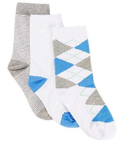 Class Club Boys 3-Pack Multi-Print Crew Dress Socks