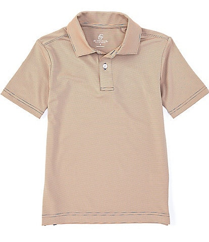 Class Club Boys 8-20 Short-Sleeve Synthetic Knit Striped Polo Shirt