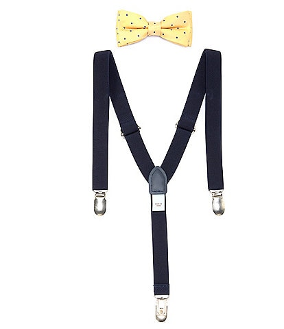 Class Club Boys Dotted Bow Tie & Suspenders Set