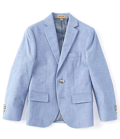 Class Club Class Club Gold Label Big Boys 8-20 Chambray Modern-Fit Jacket