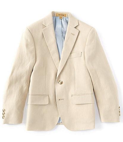 Class Club Class Club Gold Label Big Boys 8-20 Linen Modern-Fit Jacket