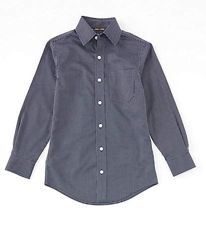 Class Club Gold Label Big Boys 8-20 Dot Dobby Non-Iron Sport Shirt