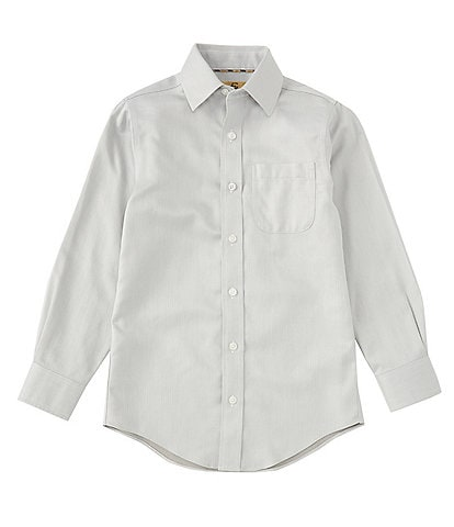 Class Club Gold Label Big Boys 8-20 Herringbone Sport Shirt