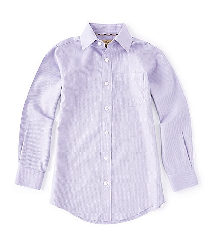 Class Club Gold Label Big Boys 8-20 Long-Sleeve Non-Iron Textured Dress Shirt