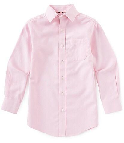 Class Club Gold Label Big Boys 8-20 Long-Sleeve Textured Dress Button-Down Sportshirt