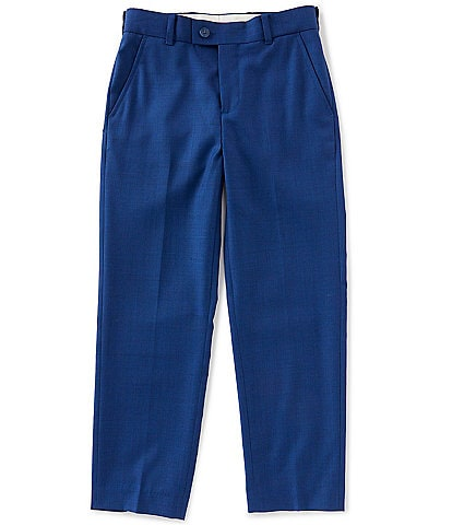 Class Club Gold Label Big Boys 8-20 Modern Fit French Blue Dress Pants