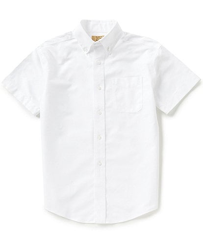 Class Club Gold Label Big Boys 8-20 Short-Sleeve Oxford Shirt